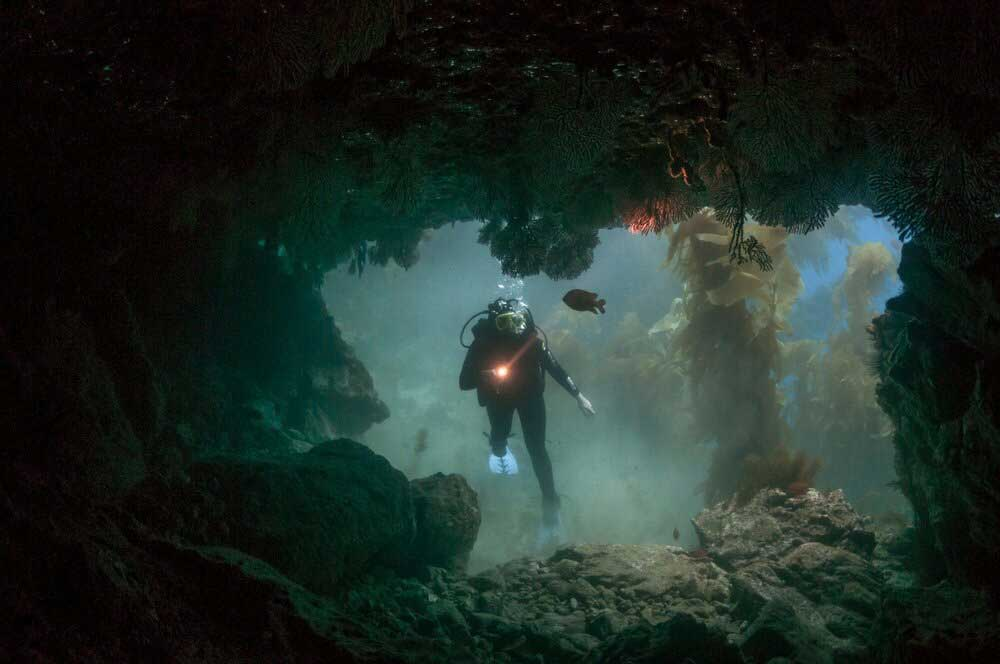 diver-in-a-cave