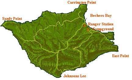 Santa Rosa Island map