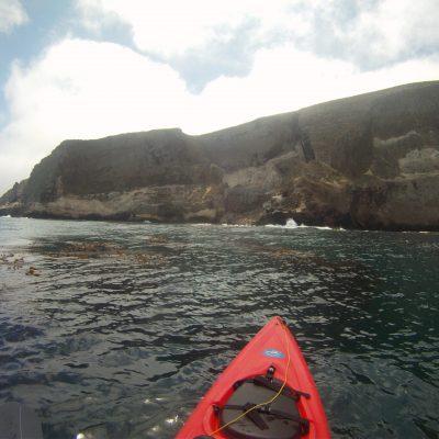 Kayaking off the coast of Santa Barbara Island