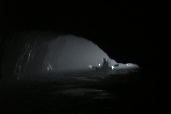 dark caves at the channel islands
